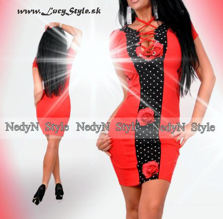 Dámske bodkované šaty (Dámske bodkované šaty)