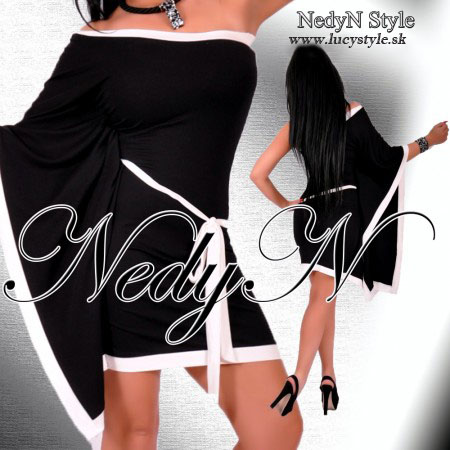 Dámske čierne šaty (Štýlové dámske čierne šaty )