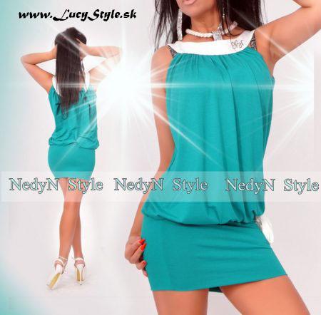 Elegantné dámske šaty (Elegantné dámske šaty, zelene)