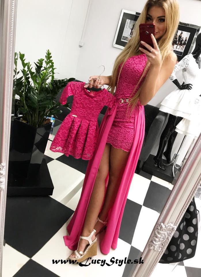 Krásne ružové spoločenské šaty (Krásne dlhé spoločenské šaty 24528103749
