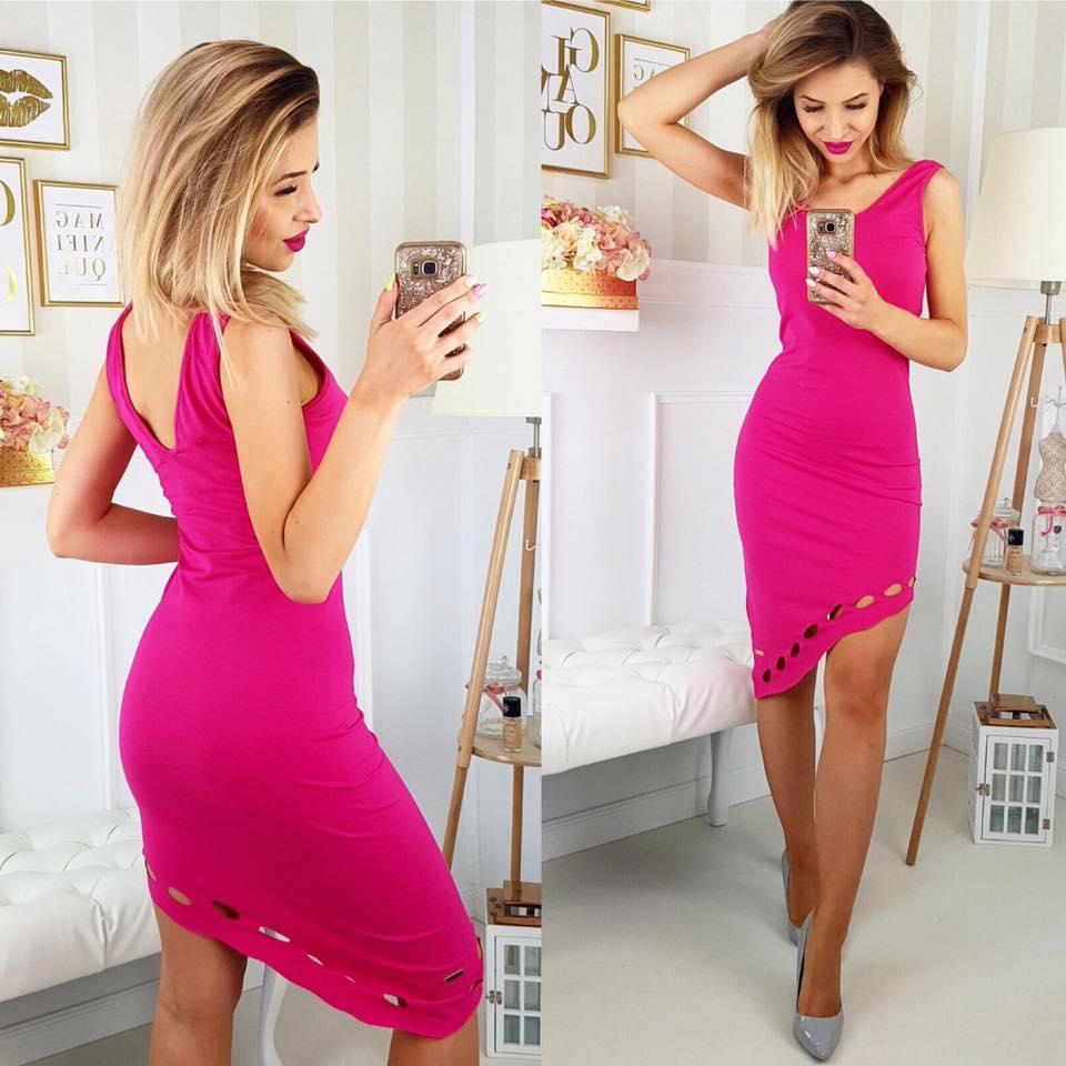 76c7f2fb0a68 Ružové dámske šaty na ramienka (Ružové dámske šaty na ramienka)