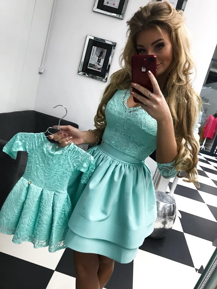 Dámske spoločenské šaty mätové 7ee3ab3f10