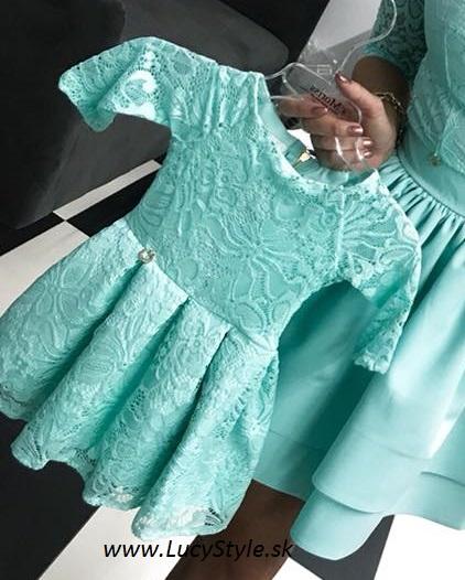 Dievčenské spoločenské šaty ,čipkované (Dievčenské spoločenské šaty ,čipkované)