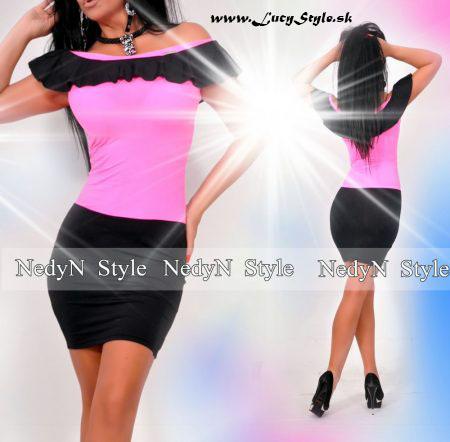 Dámske ružovo čierne šaty (Dámske ružovo čierne šaty)