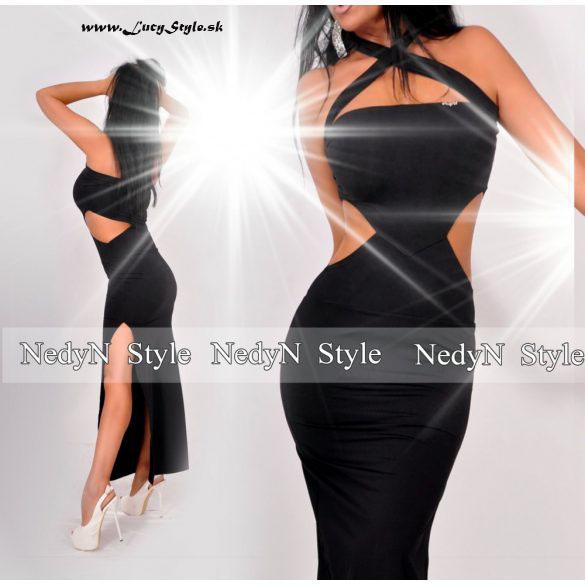 Dámske čierne maxi šaty (Dámske čierne maxi šaty )