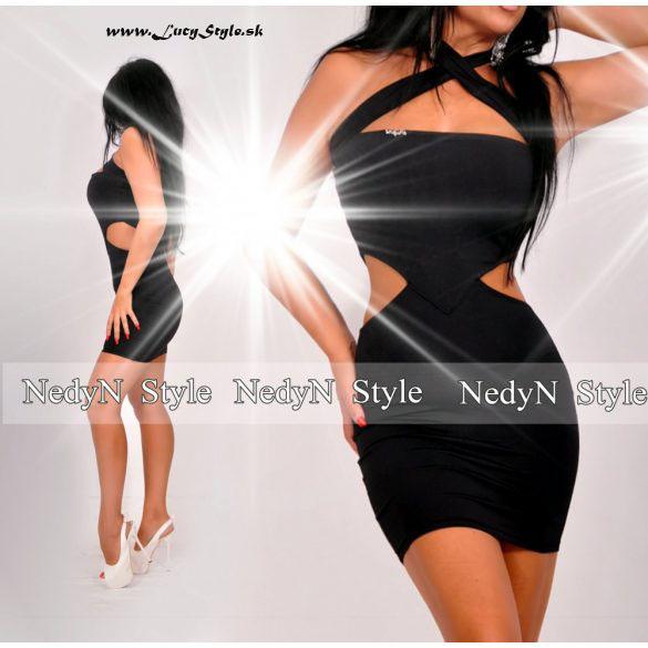Dámske sexy mini šaty v čiernej farbe (Dámske sexy mini šaty,čierne)