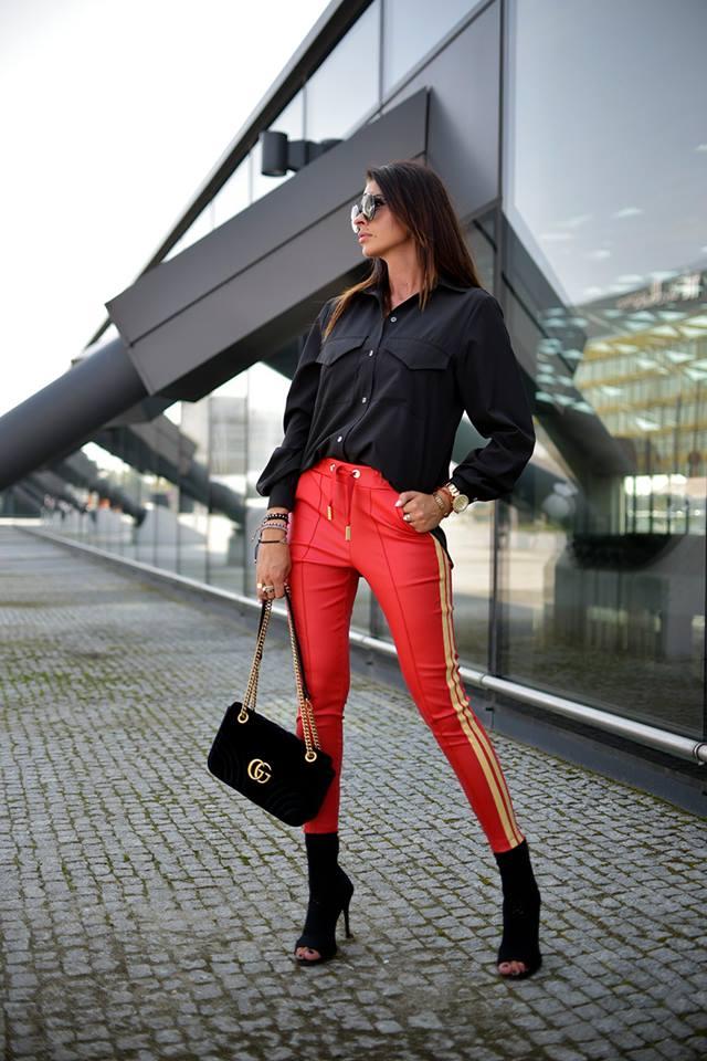 Dámske nohavice,červené (Dámske nohavice,červené)