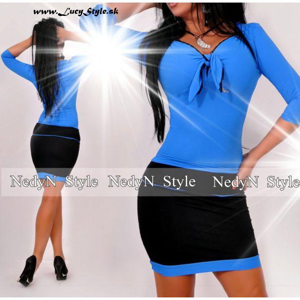 Dámske šaty,modro čierne-Nedyn
