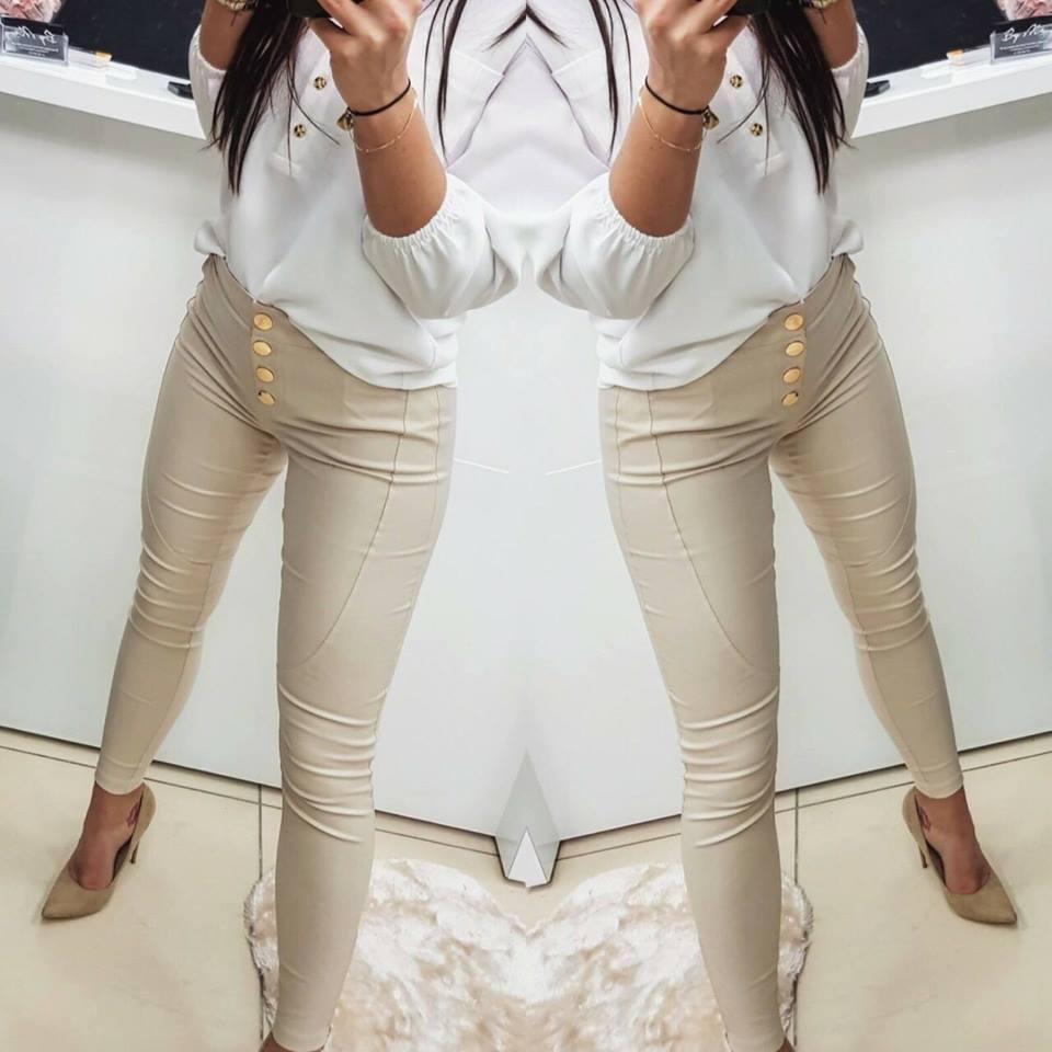 0cd57fffd037 Dámske béžové nohavice (Dámske béžové nohavice)
