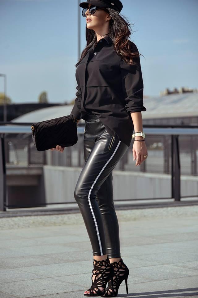 100e90369974 Dámske nohavice koženkové (Štýlové dámske nohavice koženkove)