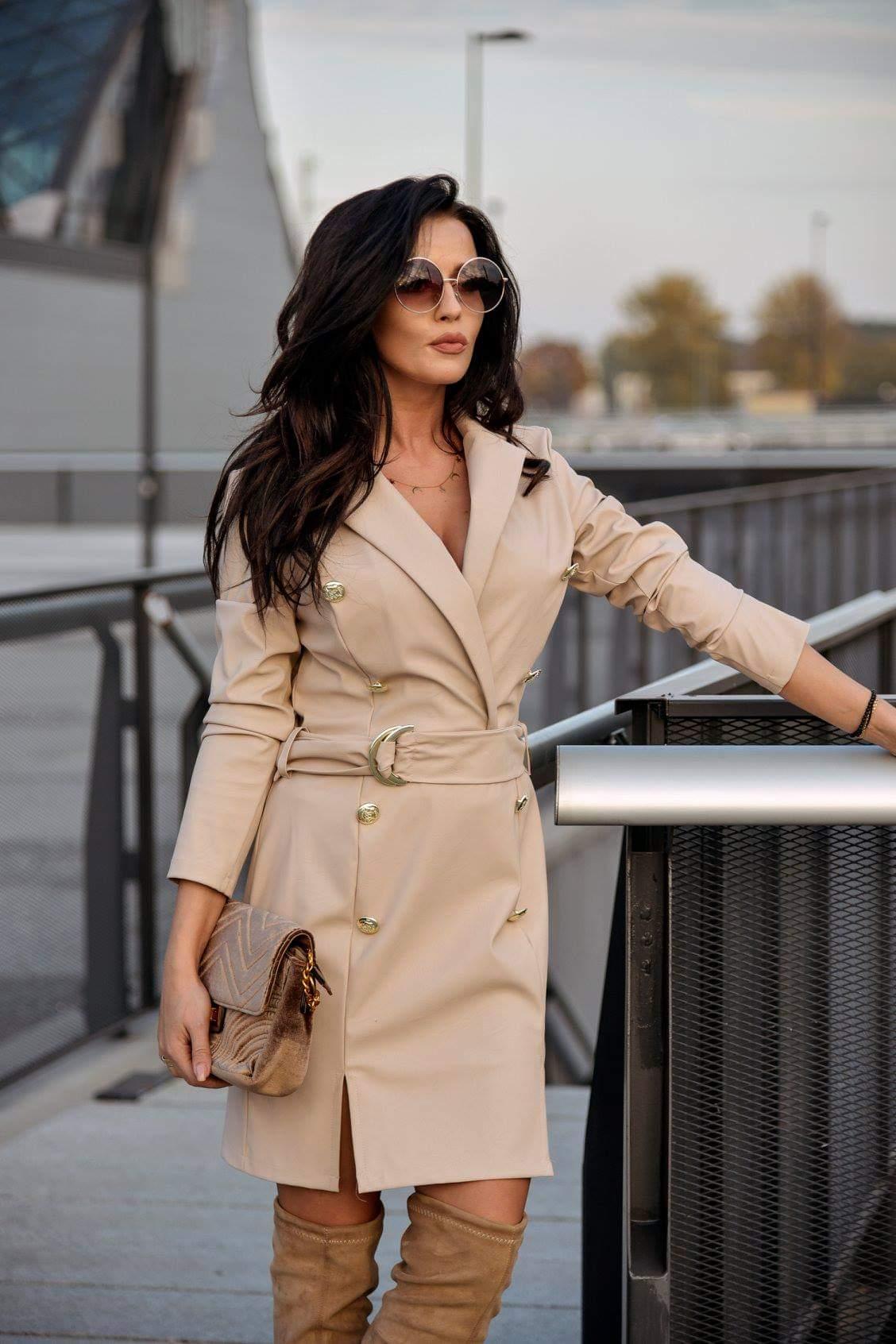 Dámske elegantné kožene šaty (Dámske kožené šaty,elegantne)