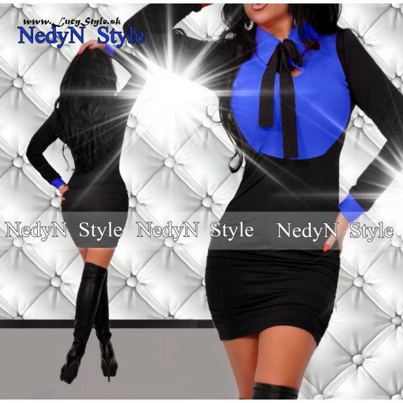 Dámske elegantné šaty ,modro čierne (Dámske elegantné šaty ,modro čierne)