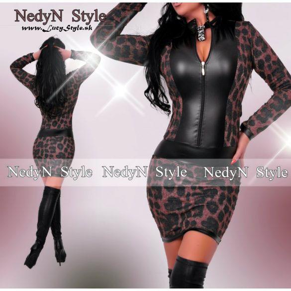 Dámske šaty s dlhým rukávom na zips (Dámske šaty s dlhým rukávom na zips)