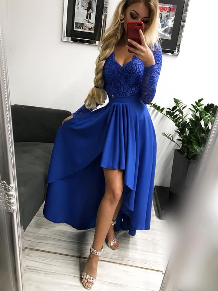 Dámske spoločenské šaty v modrej farbe (Dámske spoločenské šaty v modrej farbe)