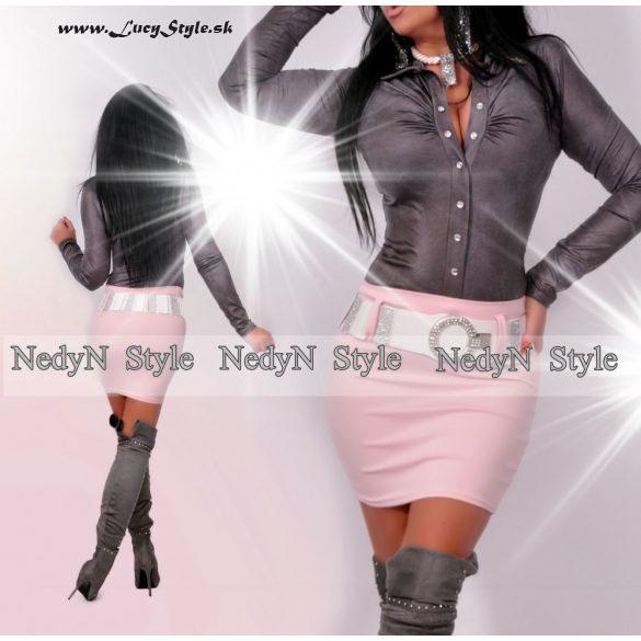 Dámska sukňa s vysokým pásom,Pink (Dámska sukňa s vysokým pásom,Pink)