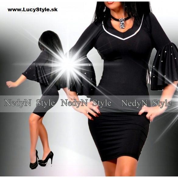 Dámske elegantné čierne šaty (Dámske elegantné čierne šaty )