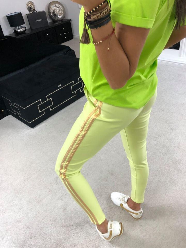Dámske nohavice se dvema pásikmi (Štýlové dámske nohavice,zelene)