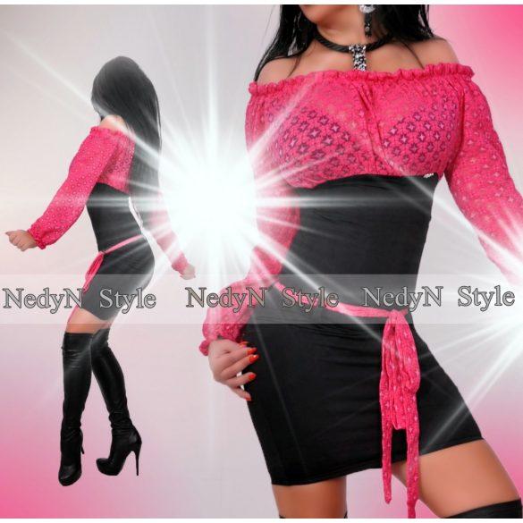 Krásne dámske šaty ružovo čierne (Krásne dámske šaty ružovo čierne)