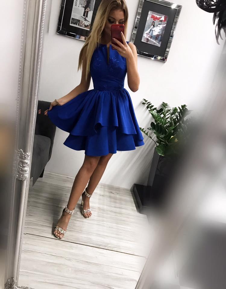 4fb4d61ac Krátke spoločenské šaty ,modré (Krátke spoločenské šaty ,modré)