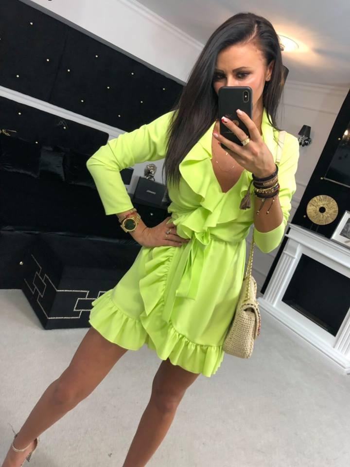 Dámske šaty ,neon (Štýlové dámske šaty ,noenkové)