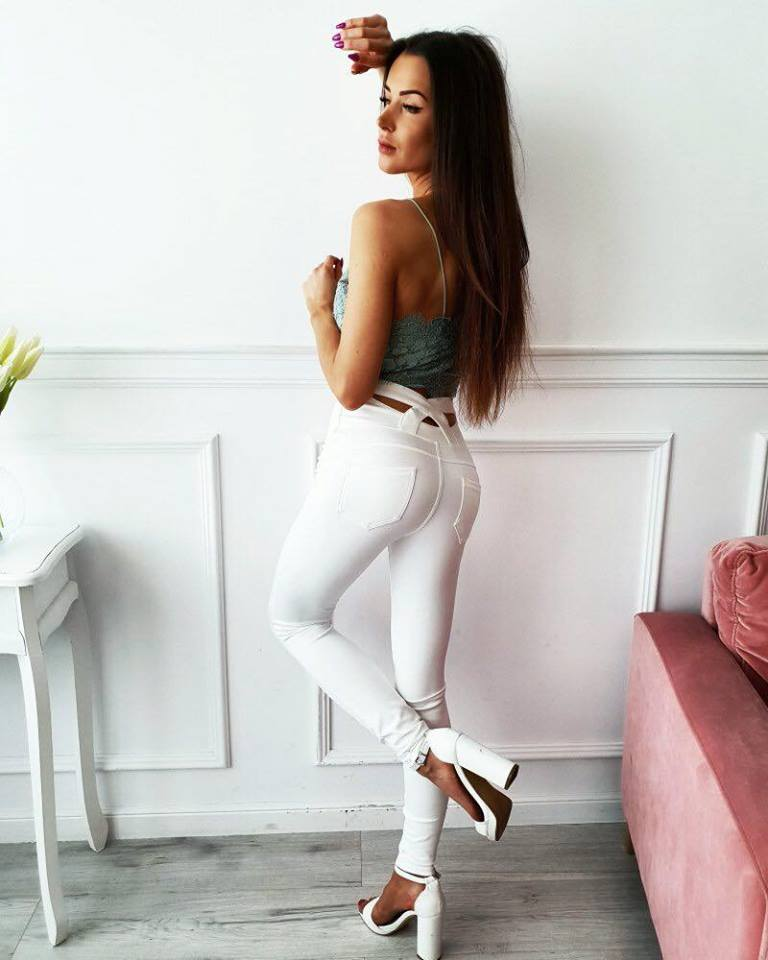 Dámske biele nohavice (Dámske biele leginové nohavice)