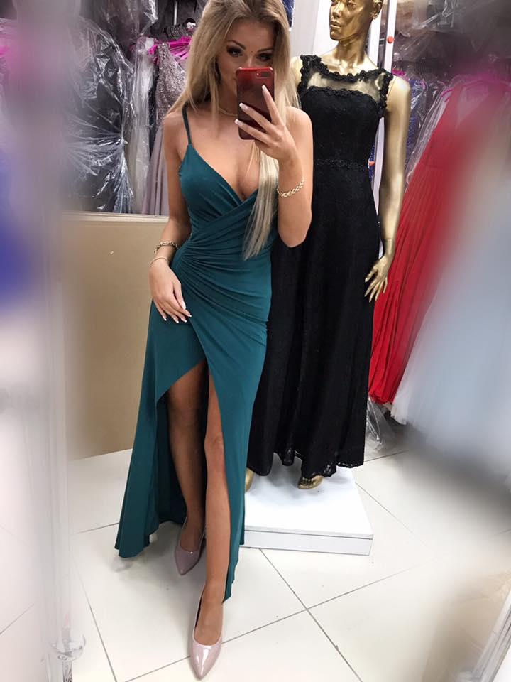 d96b59cfa Jednoduché spoločenské šaty ,zelené (Krásne a jednoduché a sexy spoločenské  šaty ,zelené)