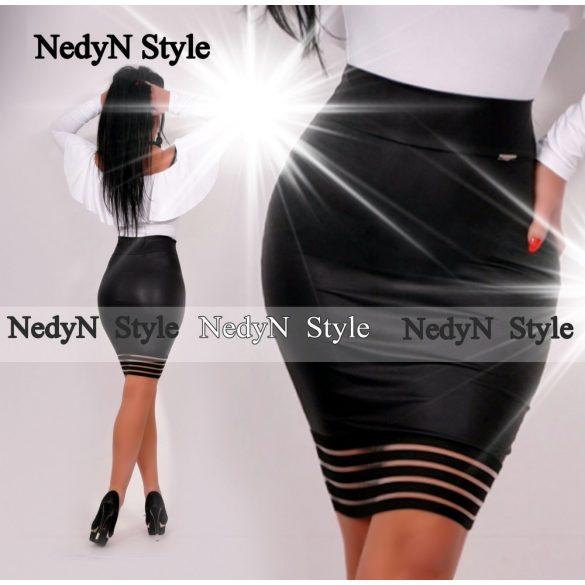 Dámska sukňa (Dámska čierna sukňa ku kolenúm)