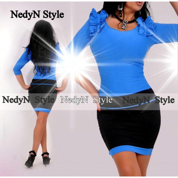 Dámske modro čierne šaty (Krásne dámske modro čierne šaty)