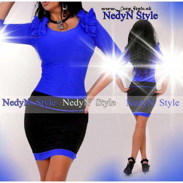 Dámske šaty modro čierne (Krásne elegantné dámske šatya,modro čierne)