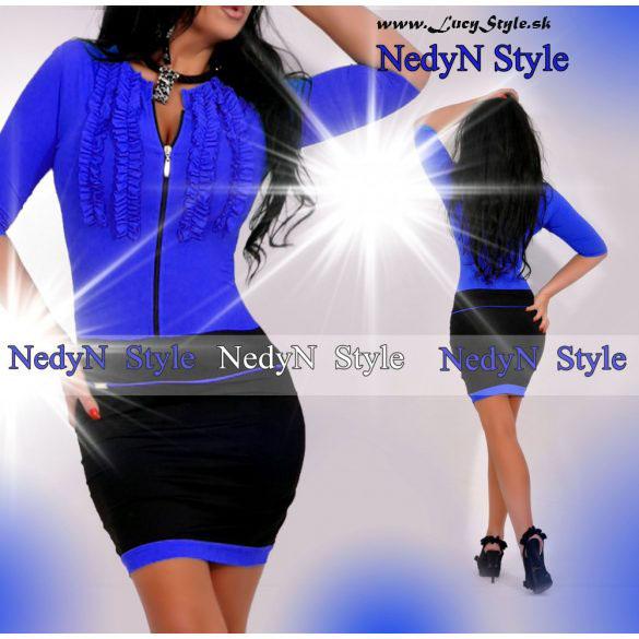 Dámske šaty ,modré (Elegantné dámske šaty modré)