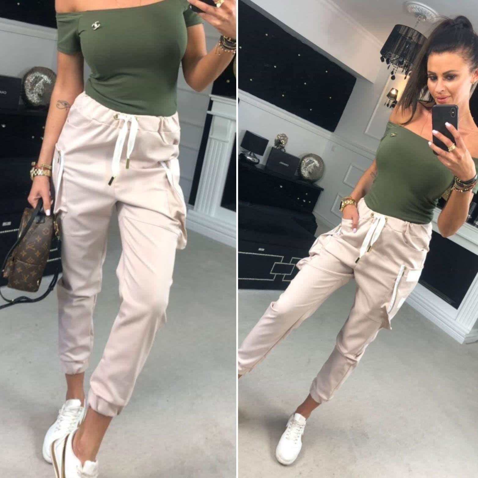 Štýlové dámske kapsačové nohavice (Štýlové dámske kapsačové nohavice)