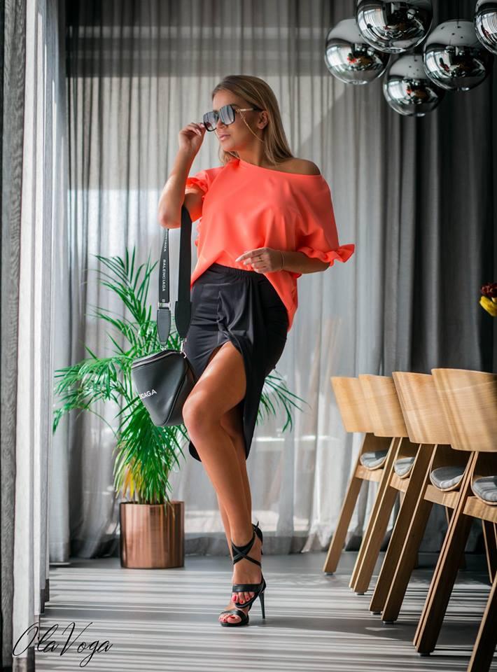 Štýlová asymetrická dámska sukňa (Štýlová asymetrická dámska sukňa,čierna)