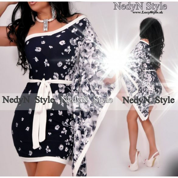 Krásne dámske šaty na jedno rameno (Krásne dámske šaty na jedno rameno)