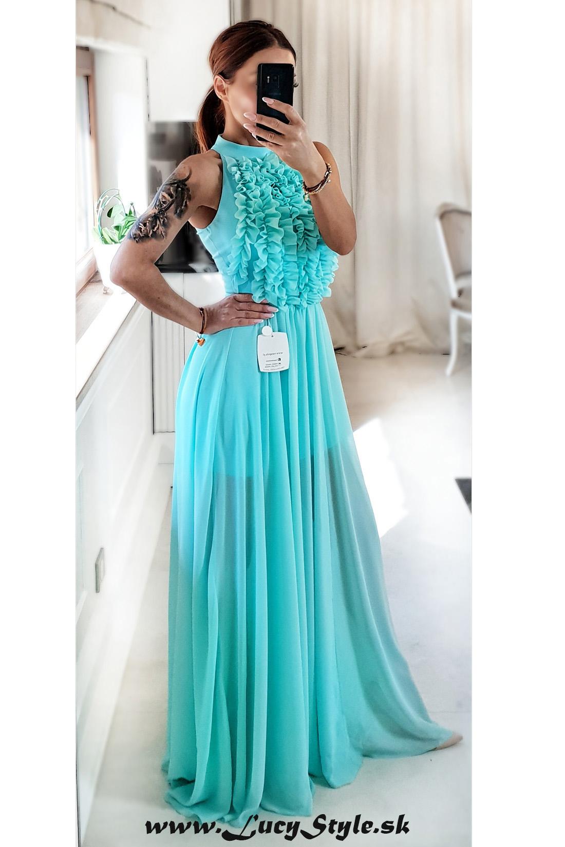 522323759e40 Krásne spoločenské šaty.tyrkysové