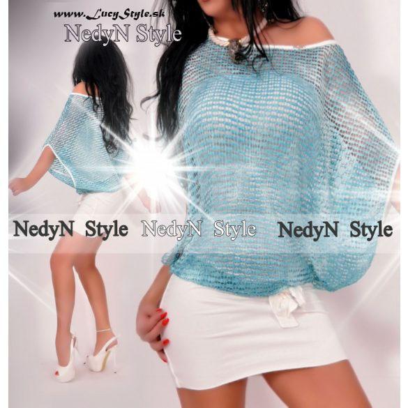 Dámske bielo modré šaty (Dámske bielo modré šaty )