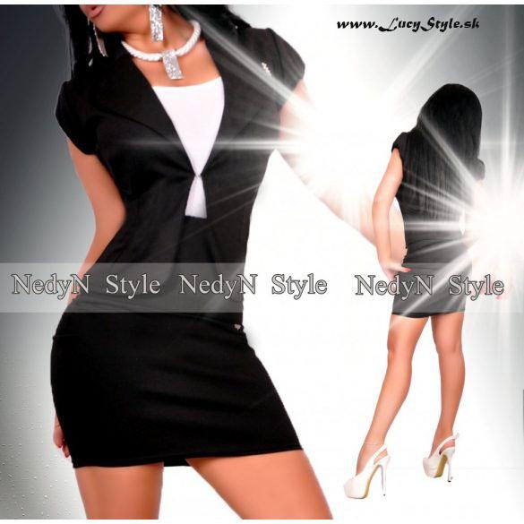 Dámsky čierny kostým,sako s kratkym rukávom+ sukňa (Dámsky čierny kostým,sako s kratkym rukávom+ sukňa)