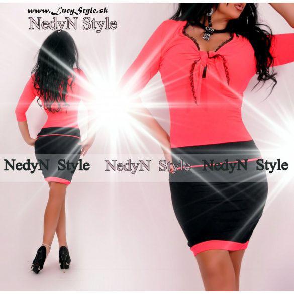 Dámske neonovo čierne šaty (Dámske neonovo čierne šaty)