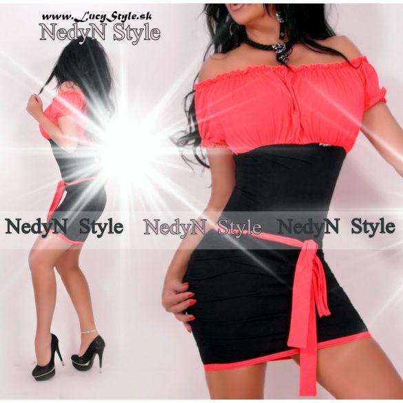Neonovo čierne dámske šaty (Neonovo čierne dámske šaty )