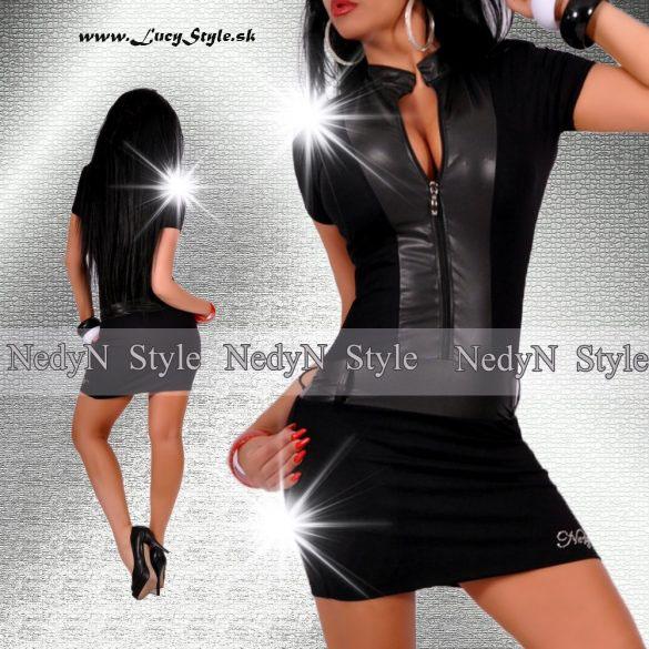Dámske čierne šaty na zips (Dámske čierne šaty na zips)