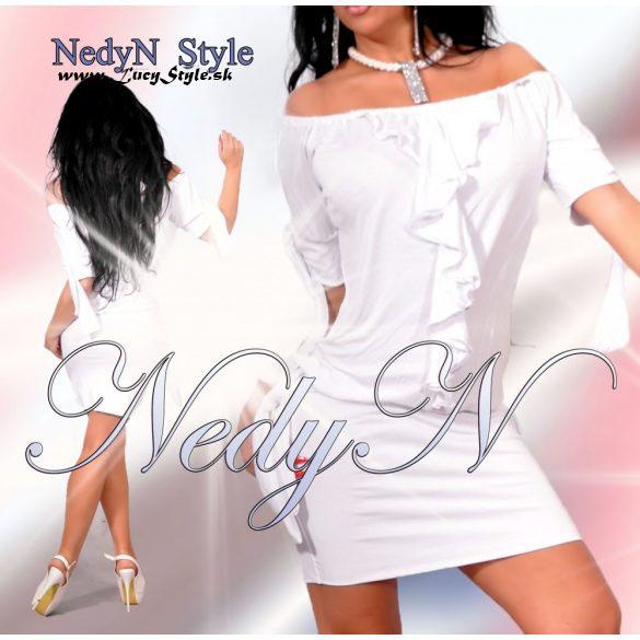 Štýlové dámske šaty ,biele (Štýlové dámske šaty ,biele)