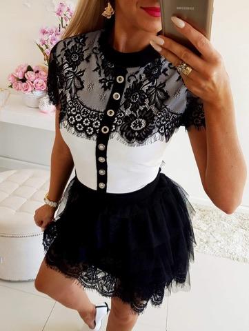 Dámske šaty s čipkou (Dámske šaty s čipkou)