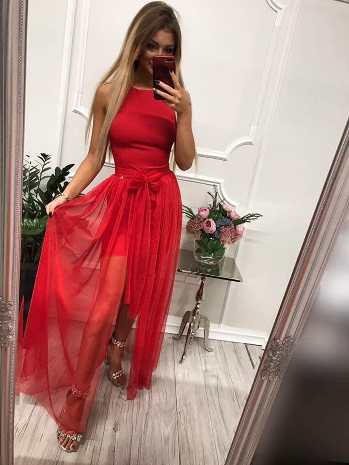 Dámske dvojdielne spoločenské šaty (Jednoduché ale krásne spoločenské šaty)