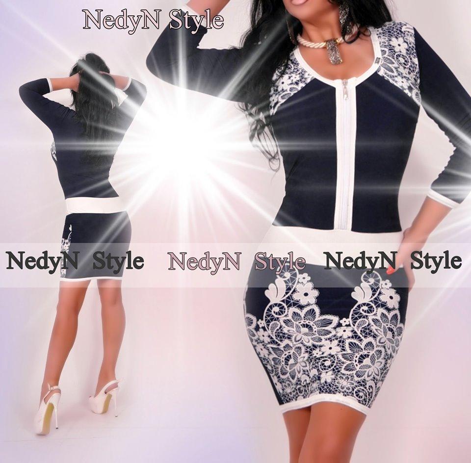 Krásne vzorované šaty (Krásne vzorované šaty ,bielo modré)