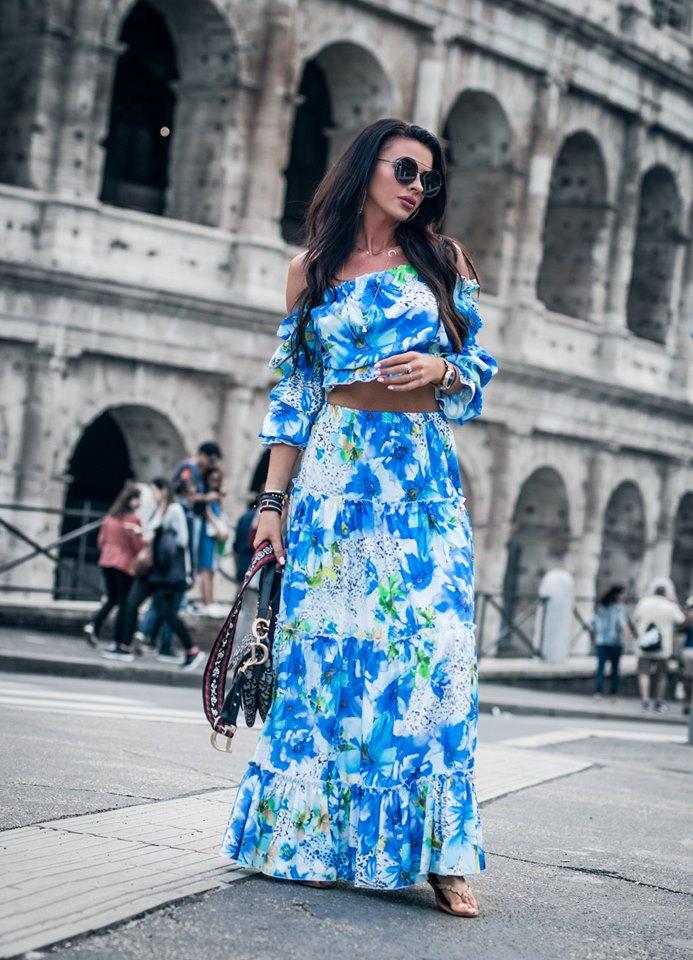 dec0a61eb DÁMSKY KOSTÝM,KOMPLET | Krásny sukňový komplet kvetovaný | Dámske ...