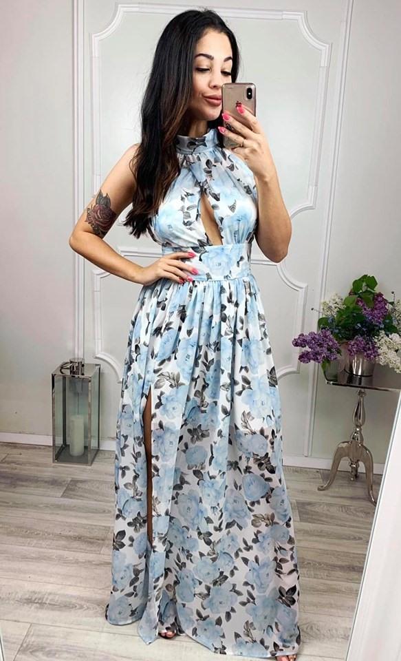 Dámske spoločenské kvetované šaty (Dámske spoločenské kvetované šaty)