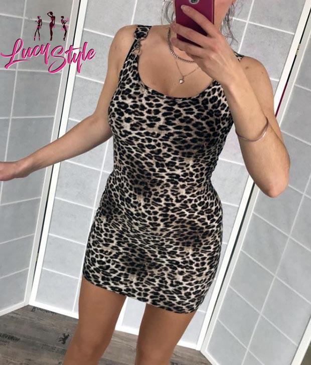 Dámske leopardie mini šaty (Štýlové a sexy dámske leopardie mini šaty )