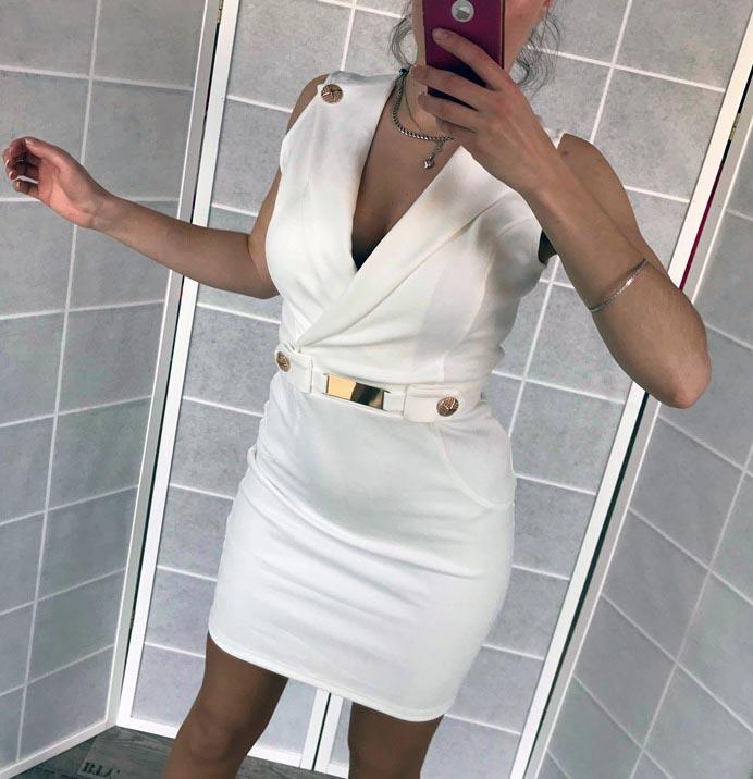 Dámske biele elegantné šaty (Dámske biele elegantné šaty )