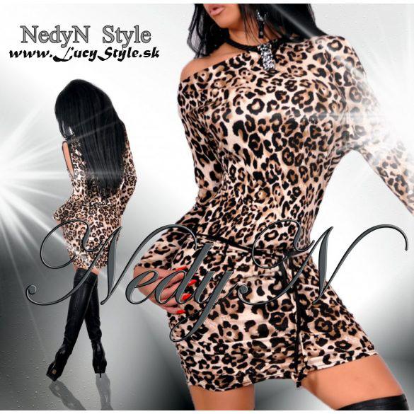 65016f5d64ca Dámske leopardie šaty