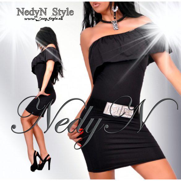 Dámske šaty s volánikom,čierne (Dámske šaty s volánikom,čierne)