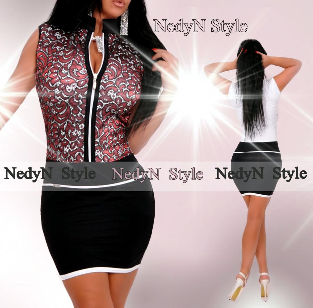 ee20d8cc9647 Krásne dámske šaty s krátkym rukávom na zips